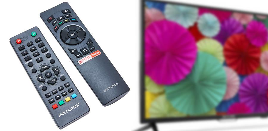 controle TV Multilaser
