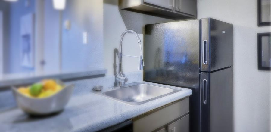 geladeira na cozinha