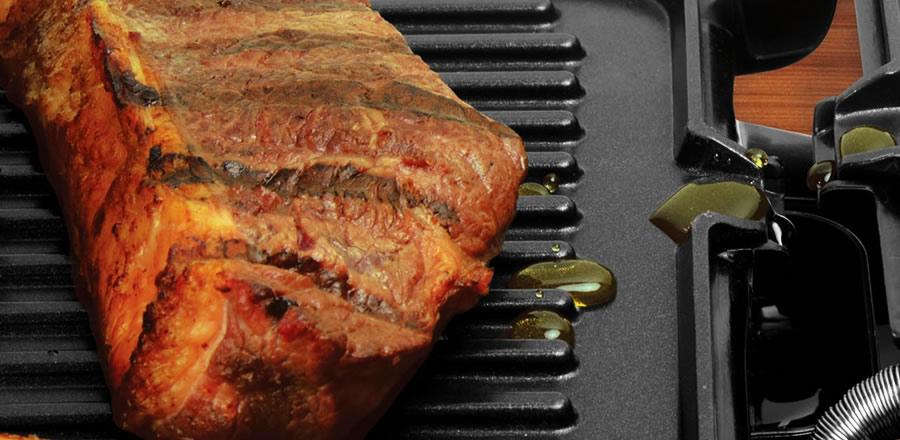 grill retangular gordura