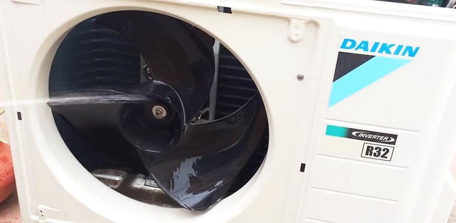 limpar ar condicionado externo