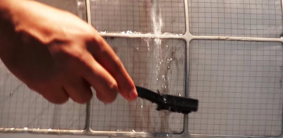 limpar filtro ar condicionado
