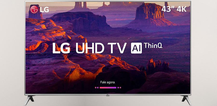 smart TV 4K Ultra HD LG LED 43 polegadas 43UK6510PSF