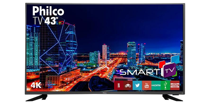 smart TV 4K Ultra HD Philco LED 43 polegadas PTV43F61DSWNT