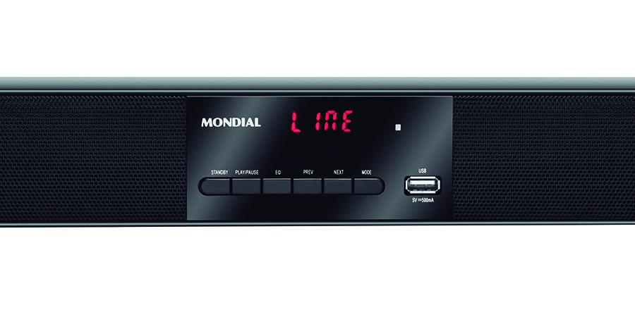 soundbar mondial sb-01 painel