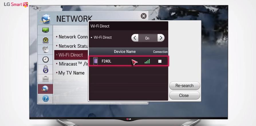 tv wifi lg